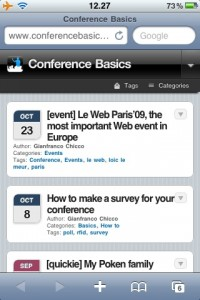 Conference Basics optimized for your iPhone - Conference Basics